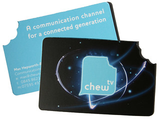 Chew TV  Business Cards, part of a complete rebrand. by Andrew Stone | by dott shot