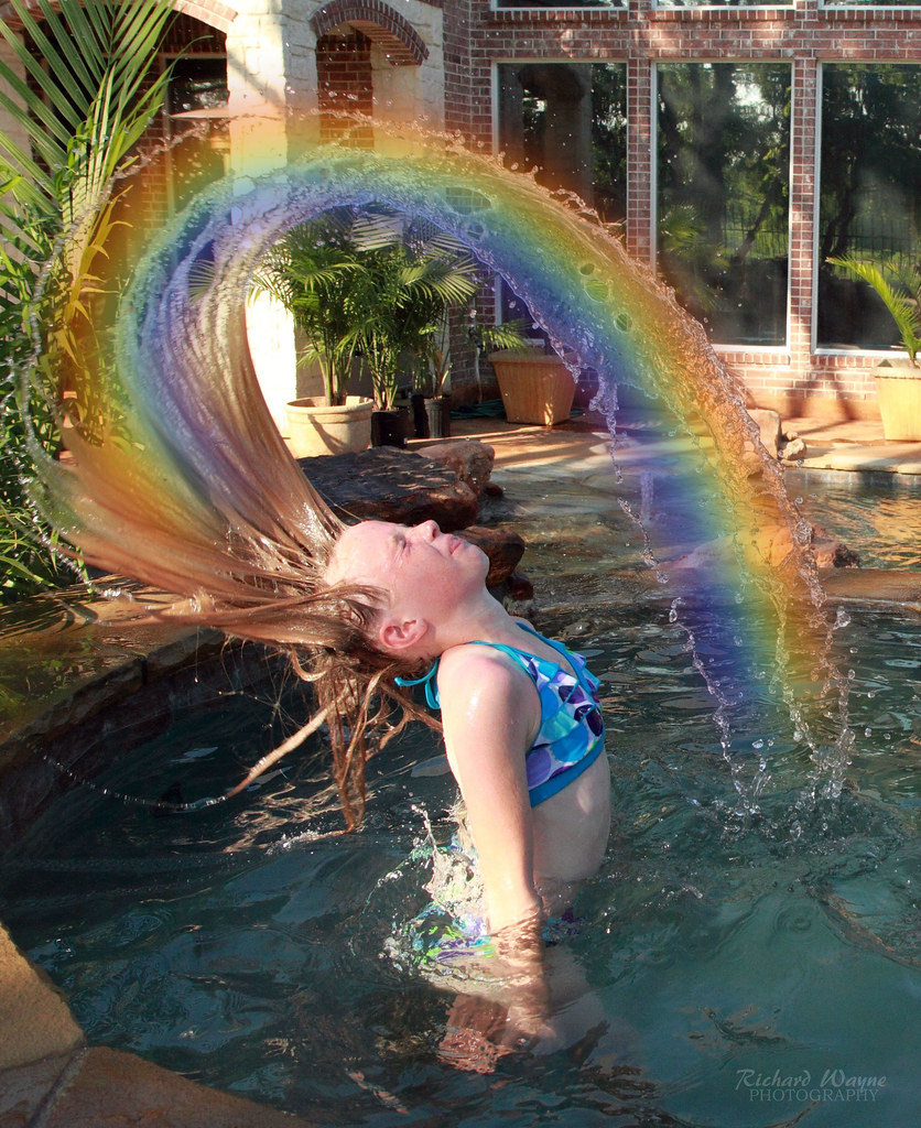 emily rainbow water hair flip 2274 05 29 11 emily 39 s rainbo flickr. Black Bedroom Furniture Sets. Home Design Ideas