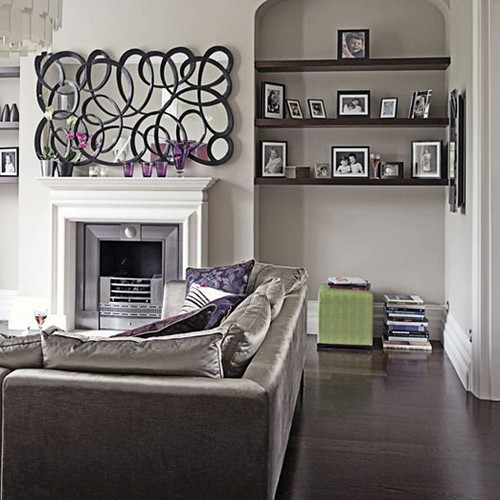 Modern Chic Grey and Purple Living Room | Post on Brunch ...