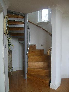 Bespoke Spiral Staircase With Closed Risers Bespoke
