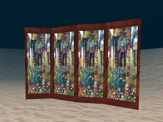 Elements Room Divider Stained Glass Rosewood for App Flickr