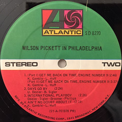 WILSON PICKET:IN PHILADELPHIA(LABEL SIDE-B)