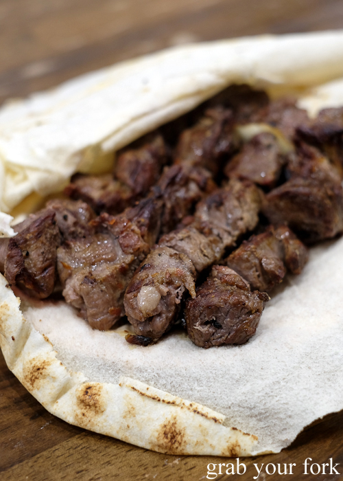 Lamb shish kebabs at Jasmin1 in Punchbowl Sydney