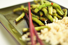 Green Beans and Garlic in Soy Sauce and Sesame Oil