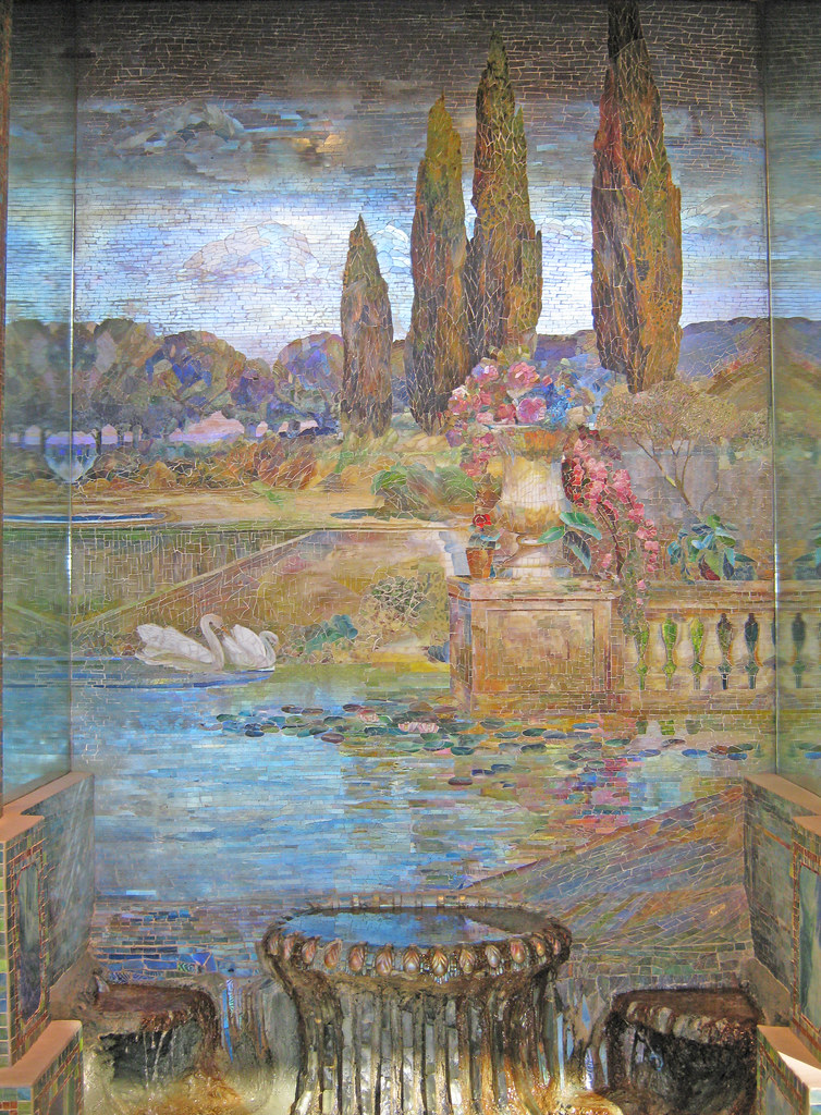 Garden Landscape and Fountain by Louis C. Tiffany and Tiffu2026 | Flickr