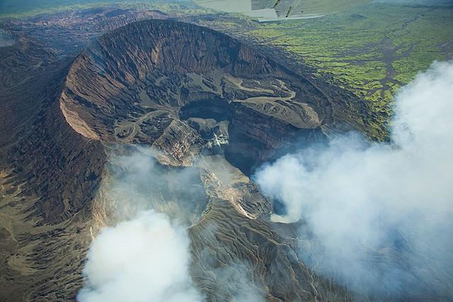 Aerial view of Marum volcano (Ambrym, Vanuatu) | Tom ...