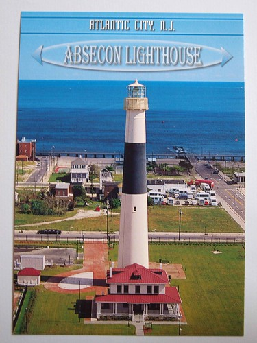 Absecon Lighthouse located in Atlantic City, New Jersey. Built 1857 , this lighthouse is the 3rd tallest in the U.S. | by lighthouse24