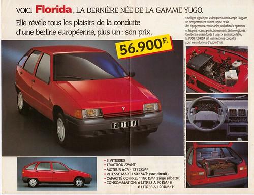 Zastava (Yugo) Florida | War interrupted sales of the ...