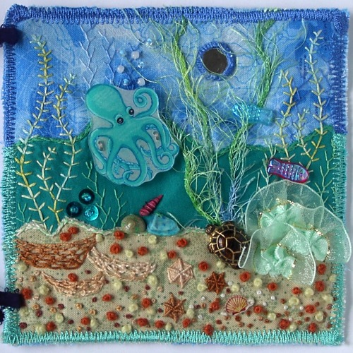 Under The Sea Embellished Fabric Page I Made This For A