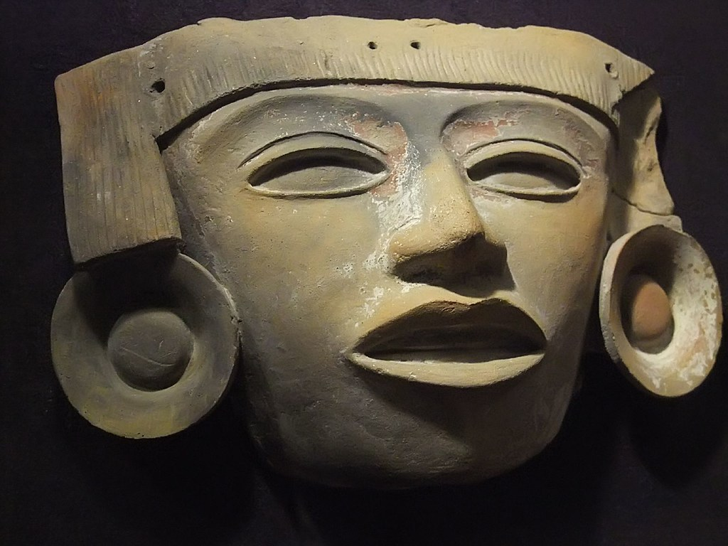 Ceramic Mask Teotihuacan 100 650 Ce Mexico Photographed