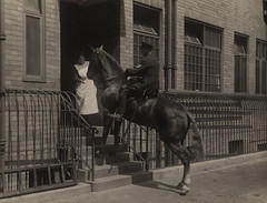 070464:Mounted Police Officer, Market Street, Police Station, Newcastle upon Tyne,  c.post 1933 | by Newcastle Libraries