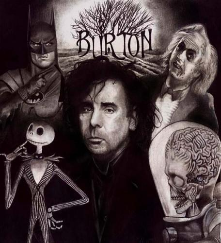 Tim Burton collage | Batman, Jack Skellington, Alien from ...