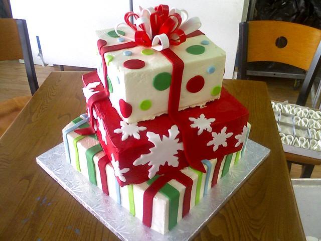 Cake christmas gift