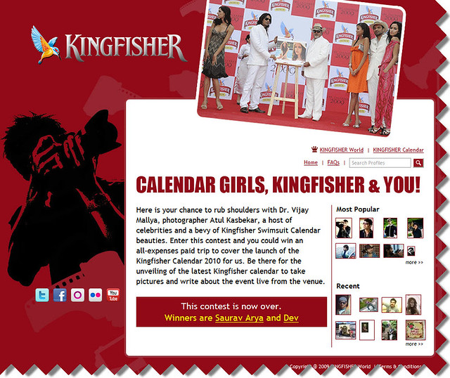 Kingfisher Calendar Design : Kingfisher calendar launch contest gaurav mishra flickr