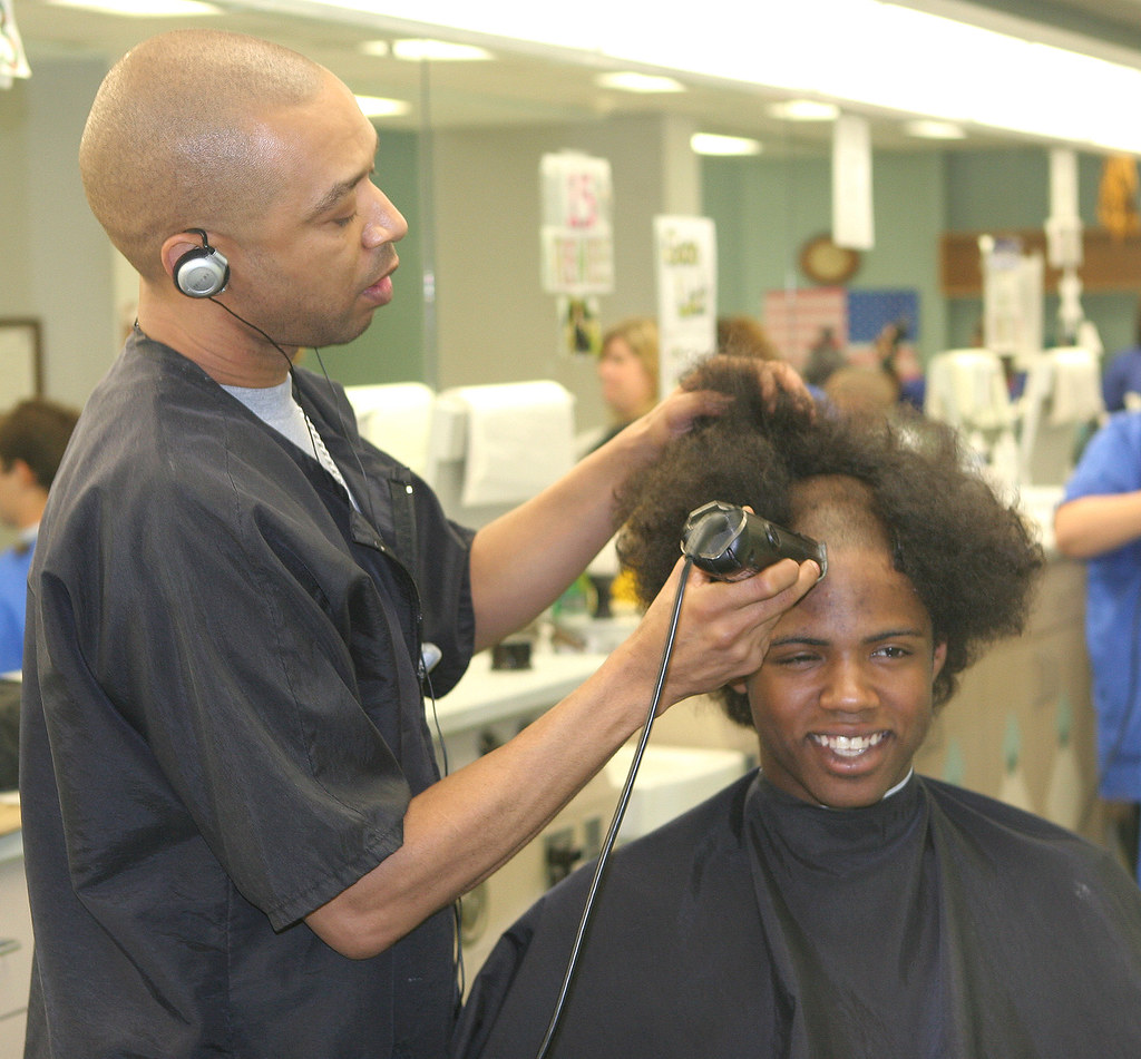 Cadet Cut A Bushy Haired New Cadet Receives His First Hair Flickr