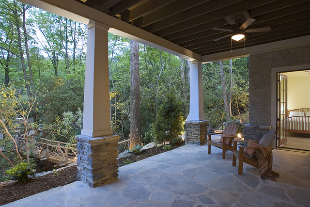 Covered Stone Patio Acm Design Architects Flickr