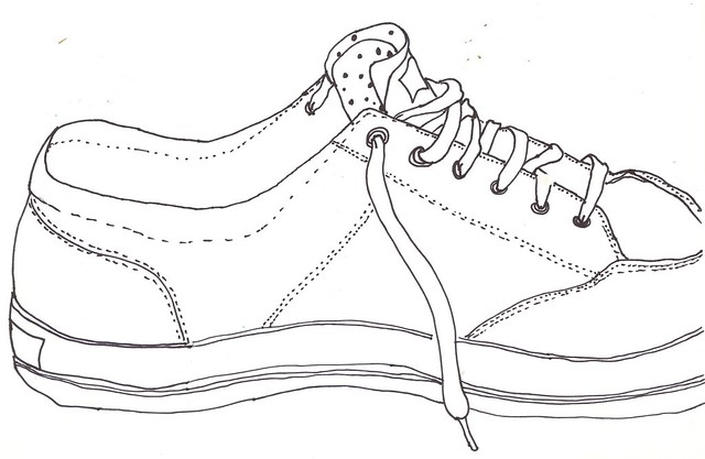 how to draw westbrook shoes