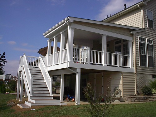 Shed style roof over deck | Cedarbrook Outdoor Design ...