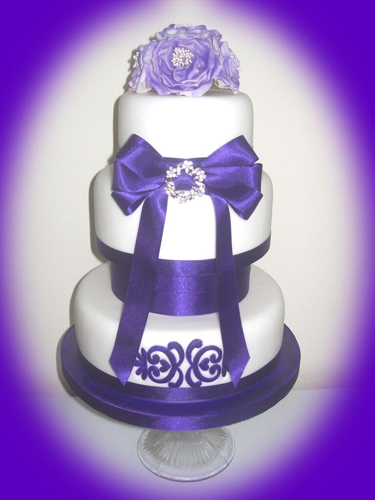 Cadbury Puple Wedding Cake
