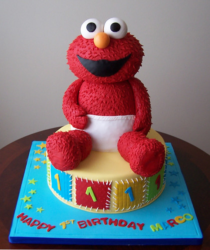 Elmo Cake Designs Pictures