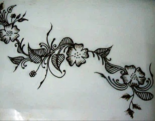 Floral Henna Design Tutorial To See The Video File On
