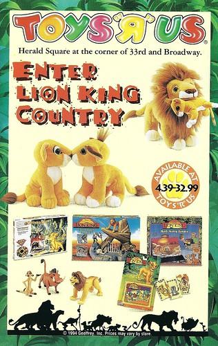 Toys R Us Lion Toys : Scan mid s toys quot r us advertisement the lion