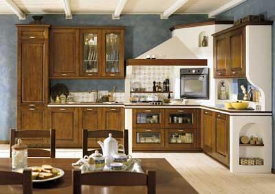Cucina Ad Angolo Con Finta Muratura In Cartongesso Flickr