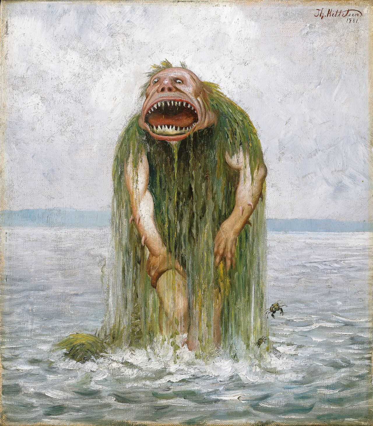 The Water Troll Who Eats Only Young Girls by Theodor Kittelsen, 1881