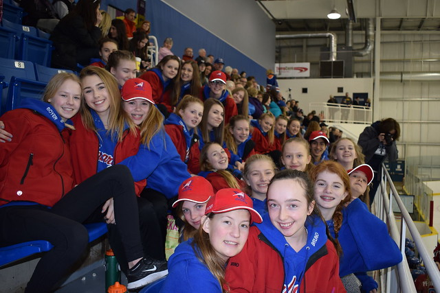 Feb 17, 2017 - U14AA White and Blue watching RATH in Spruce Gr