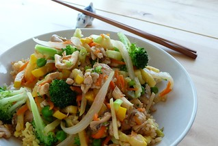 Veggie Stirfry with Fried Rice | by Kitchen Mouse
