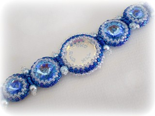 Kabbalah Rivoli Beaded Bracelet | by hadas.spring_colors