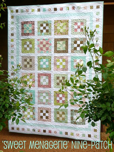 'Sweet Menagerie' nine-patch quilt | by Bloom and Blossom