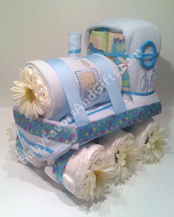 How To Make A Choo Choo Train Diaper Cake