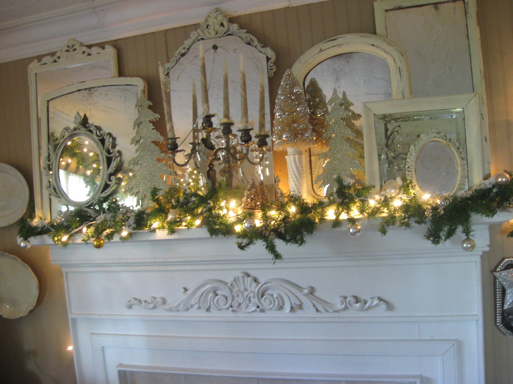White christmas mantel mirrors ann perry flickr for Mantel mirrors