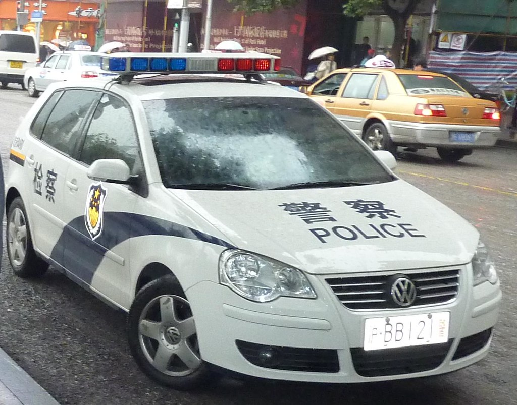 Vw Polo Police Car In Shanghai Pr China Olliboc Flickr