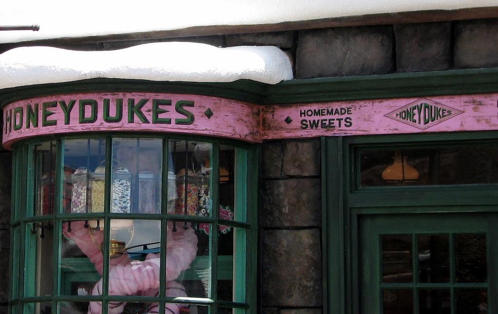 Honeydukes sweet shop sign