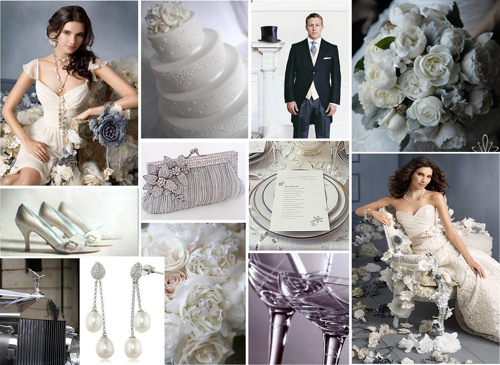 White And Silver Wedding Theme: Romantic Silver Wedding Theme