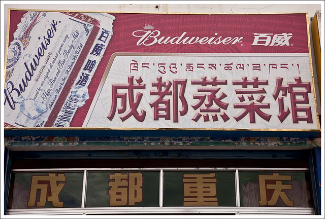 First Ad Sign We saw In Tibet