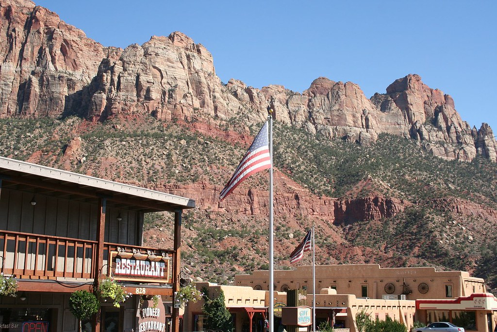 zion park springdale pioneer lodge good place to stay. Black Bedroom Furniture Sets. Home Design Ideas