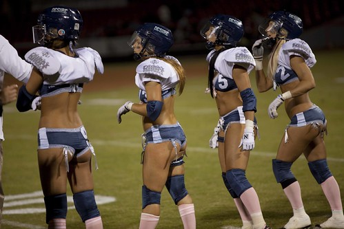 Lingerie Football League - Dallas Desire vs. San Diego Seduction | by John Pozadzides
