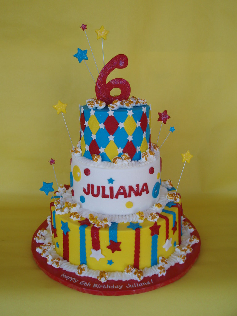 CarnivalCircus Themed Birthday Cake Julianas 6th birthda Flickr
