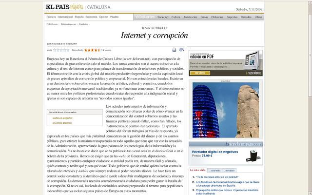 Prensa oXcars y FCForum 2009