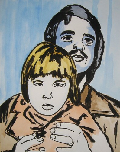 Me and dad in a photo booth at a young age | by Fu-Ran-Ku