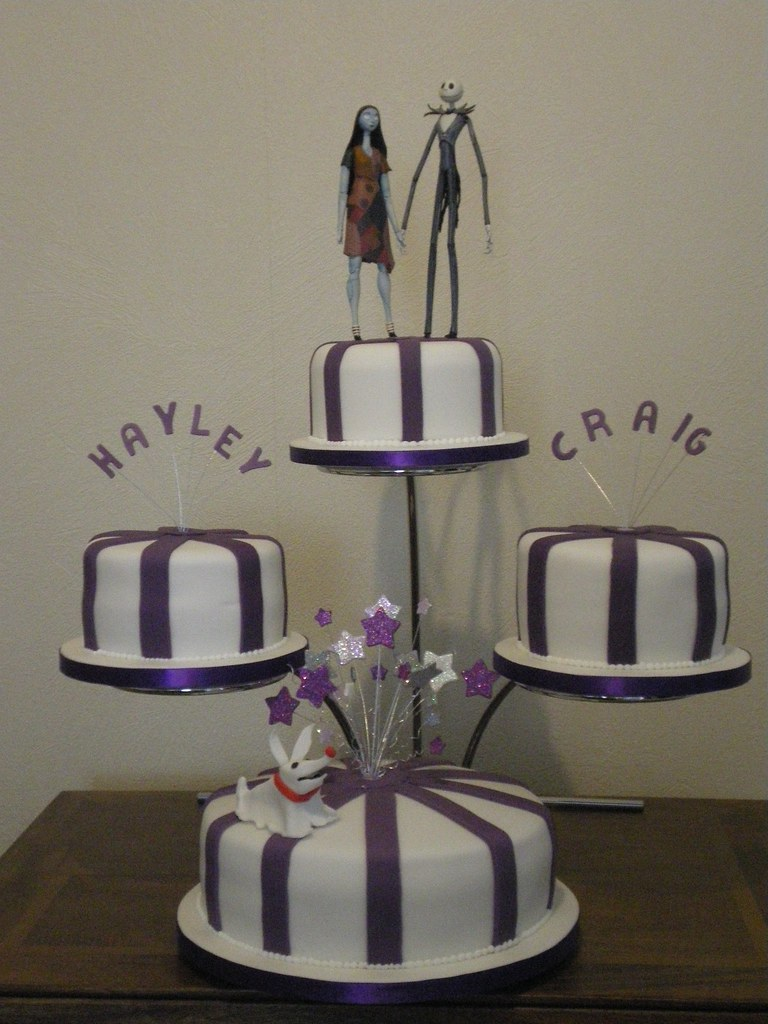 Nightmare before christmas wedding cake four tier wedding flickr junglespirit Image collections