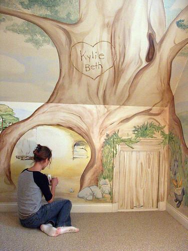 Beatrix potter mural cubbyhole3 flickr for Beatrix potter mural