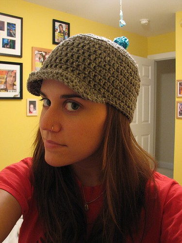 Brimmed Crochet Hat Based On This Pattern I Did Things A Flickr