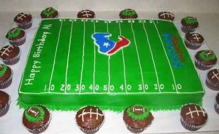 Football Texans Cakes