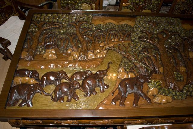 Carved Wood Dining Room Set