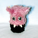 Monster Box - large round - pink and brown