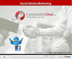 social media webinar first slide | by ConstructionDealMkting